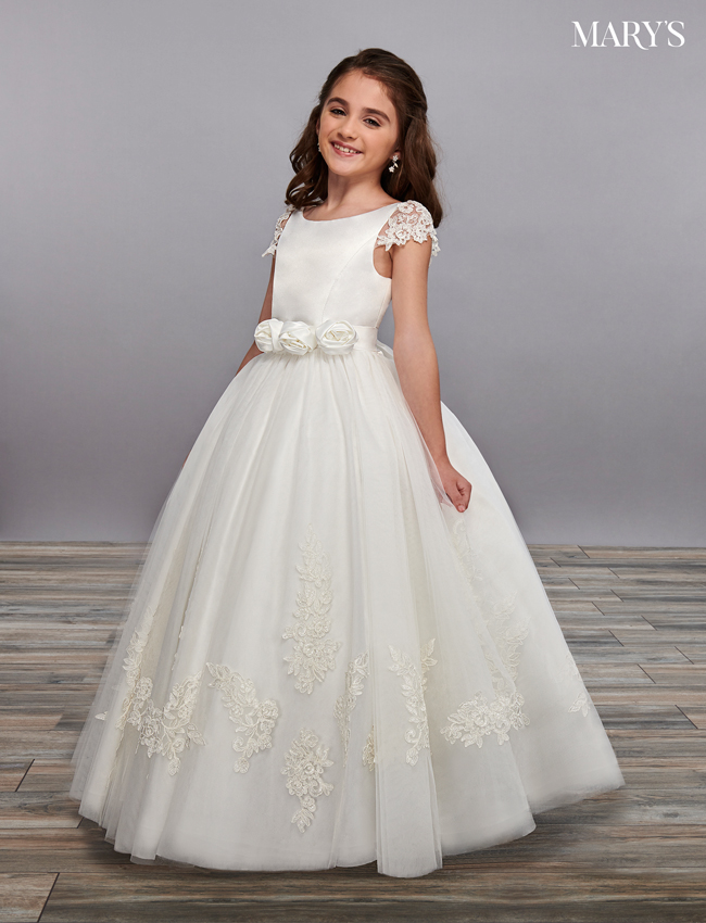 Ivory Color Angel Flower Girl Dresses - Style - MB9060