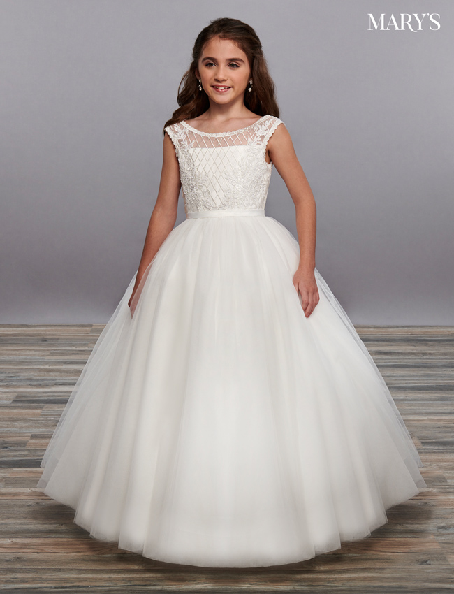 Ivory Color Angel Flower Girl Dresses - Style - MB9061