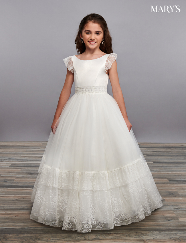 Ivory Color Angel Flower Girl Dresses - Style - MB9062