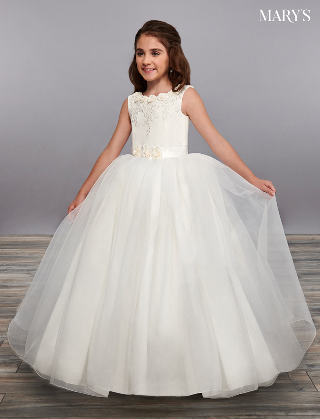 Ivory Color Angel Flower Girl Dresses - Style - MB9063