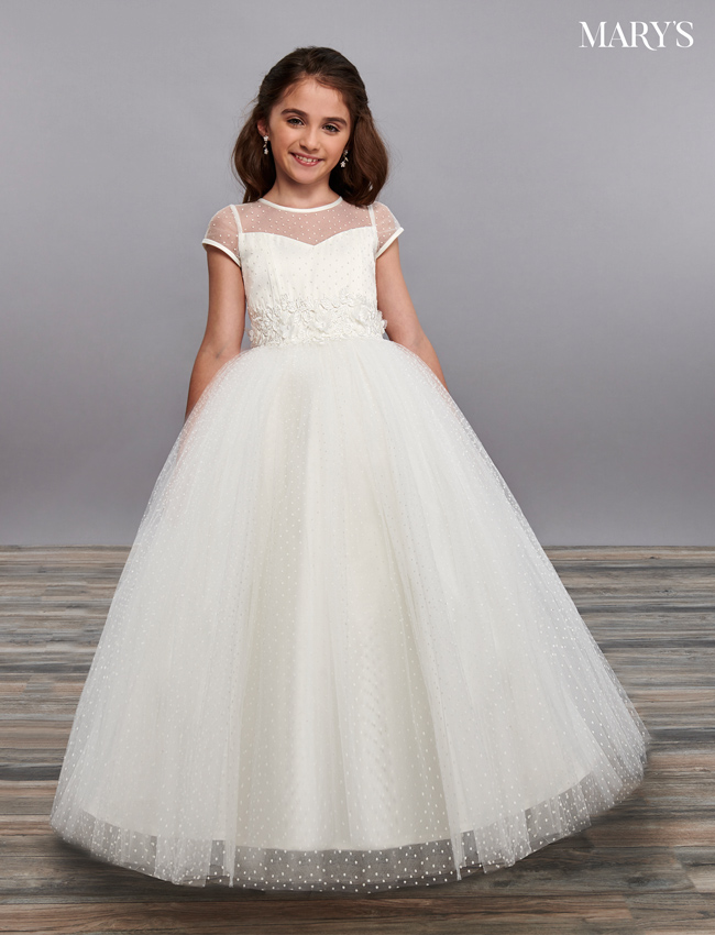 Ivory Color Angel Flower Girl Dresses - Style - MB9064