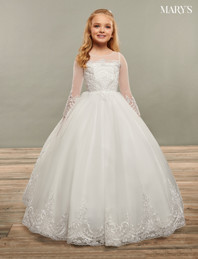 Ivory Color Angel Flower Girl Dresses - Style - MB9066