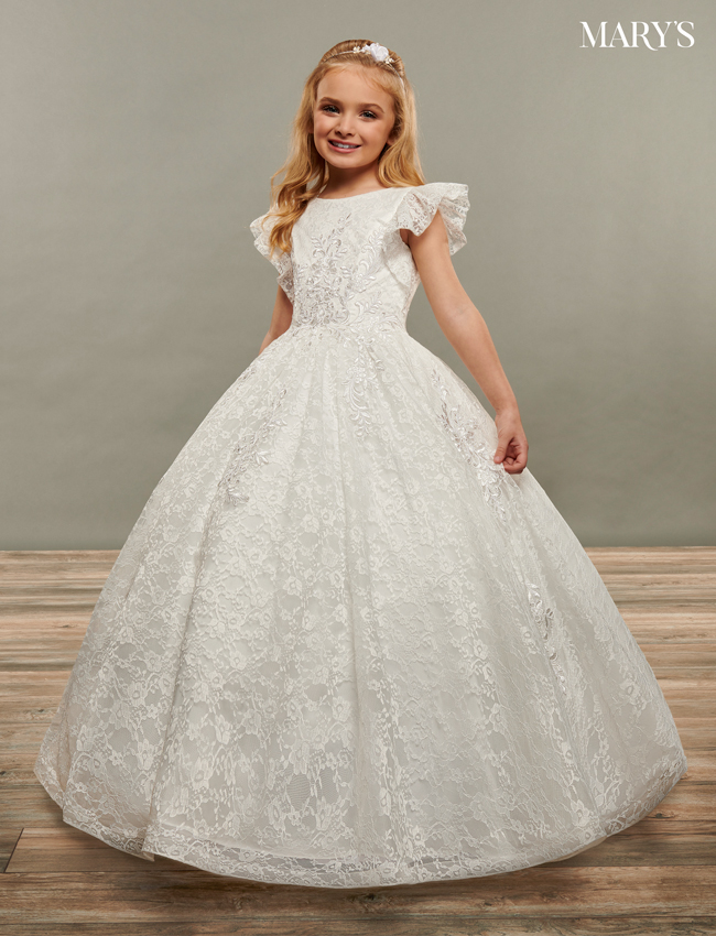 Ivory Color Angel Flower Girl Dresses - Style - MB9068