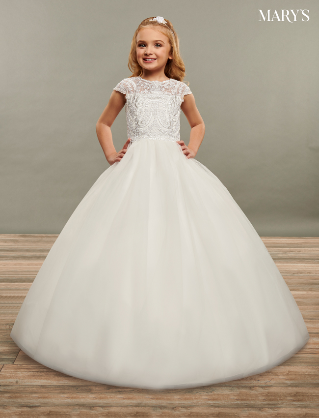 Ivory Color Angel Flower Girl Dresses - Style - MB9069