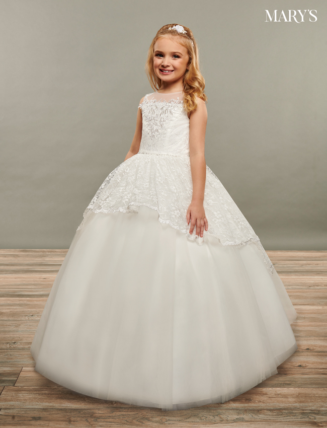 Ivory Color Angel Flower Girl Dresses - Style - MB9070