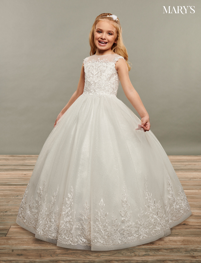 Ivory Color Angel Flower Girl Dresses - Style - MB9071