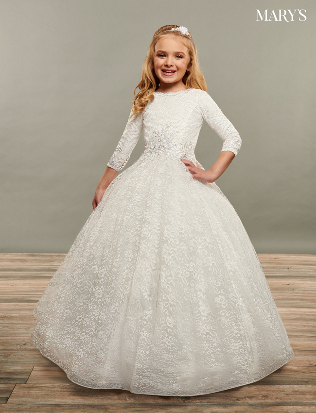 Ivory Color Angel Flower Girl Dresses - Style - MB9072