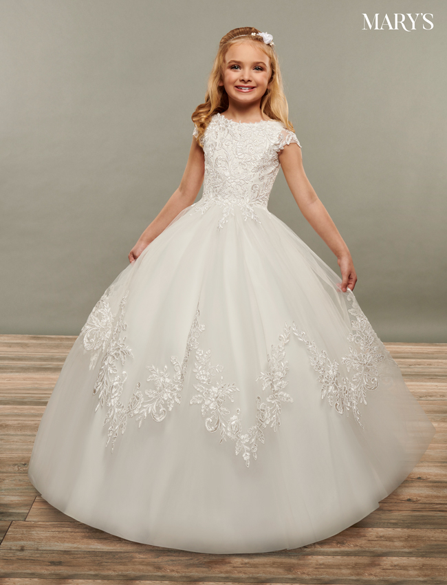 Ivory Color Angel Flower Girl Dresses - Style - MB9073