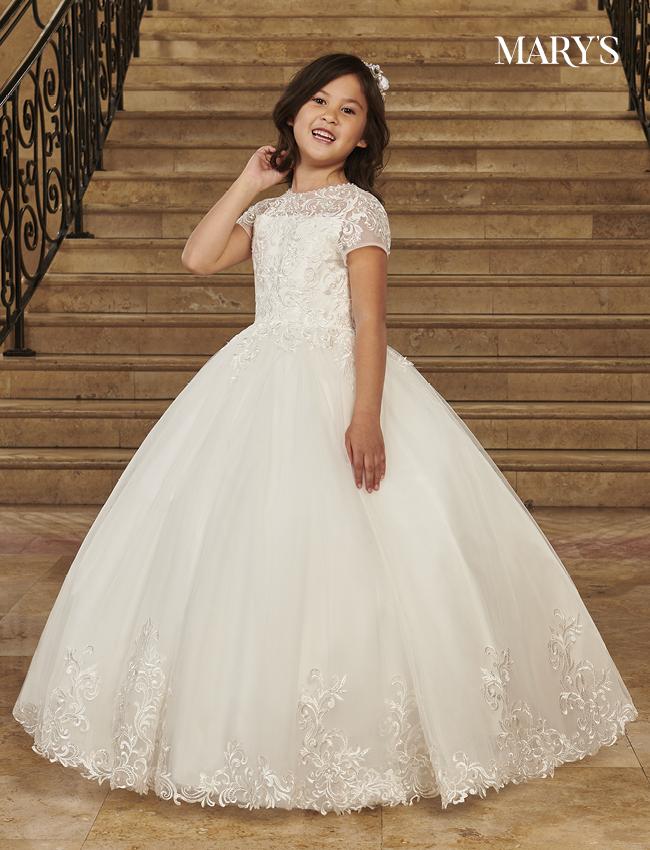 Ivory Color Angel Flower Girl Dresses - Style - MB9079