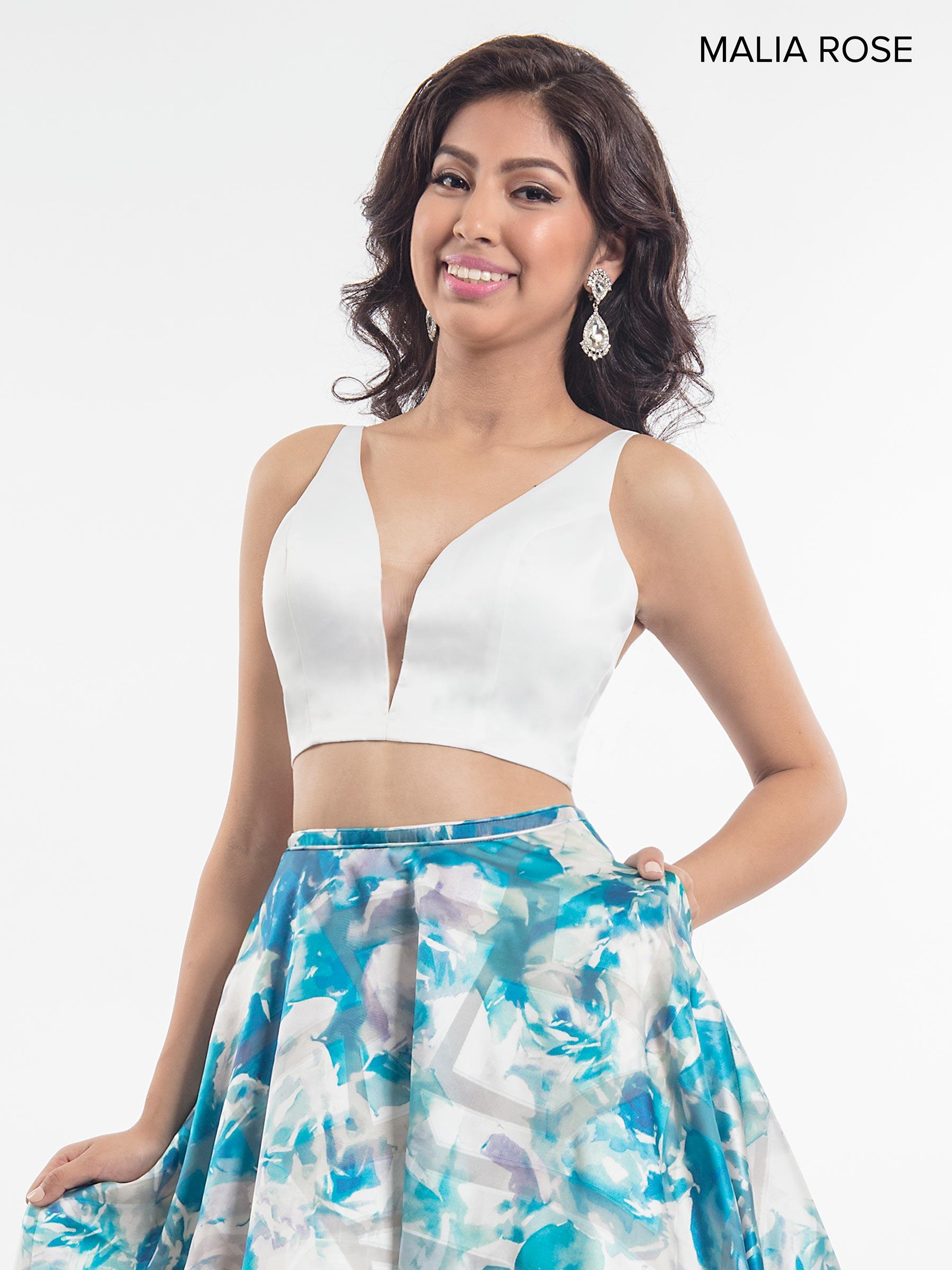 Malia Rose Prom Dresses | Style - MP1004 in White/Fuchsia ...