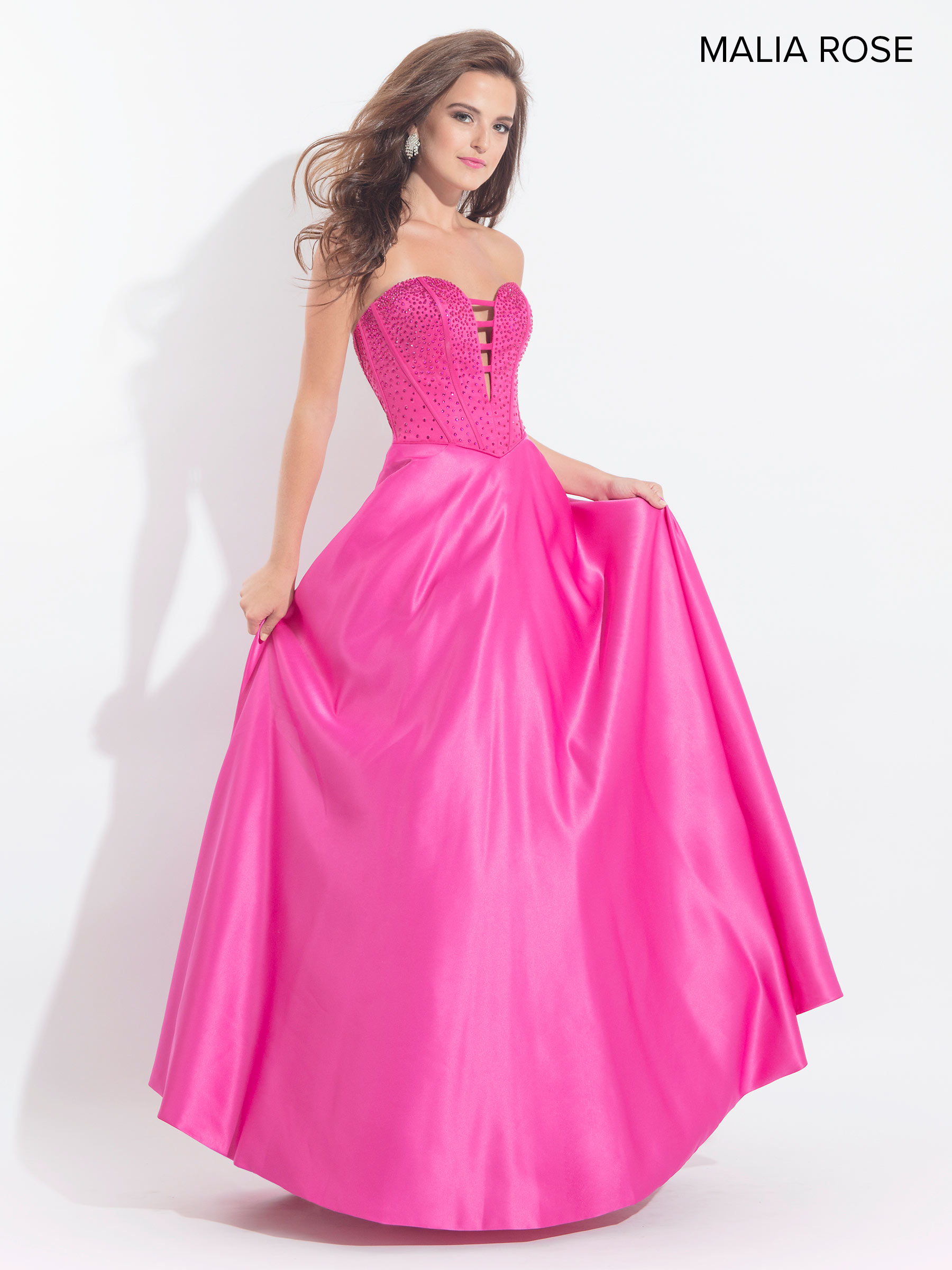 Malia Rose Prom Dresses | Style - MP1009 in Sky Blue or Fuchsia Color