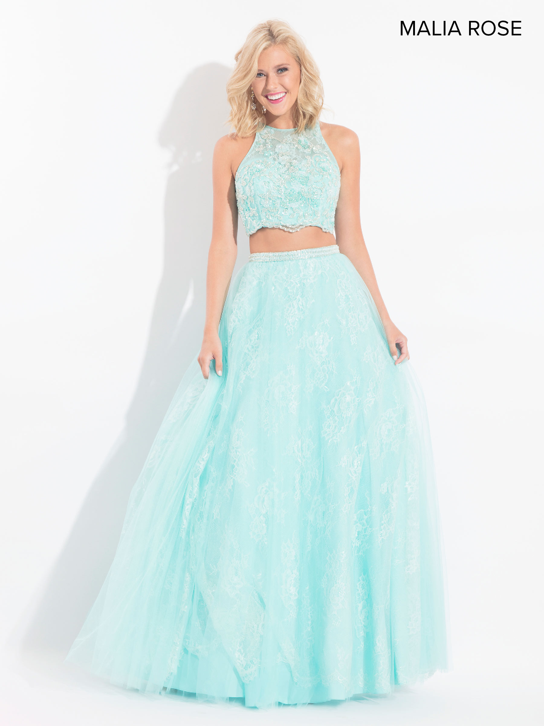 Malia Rose Prom Dresses | Style - MP1014 in Mint or Blush Color