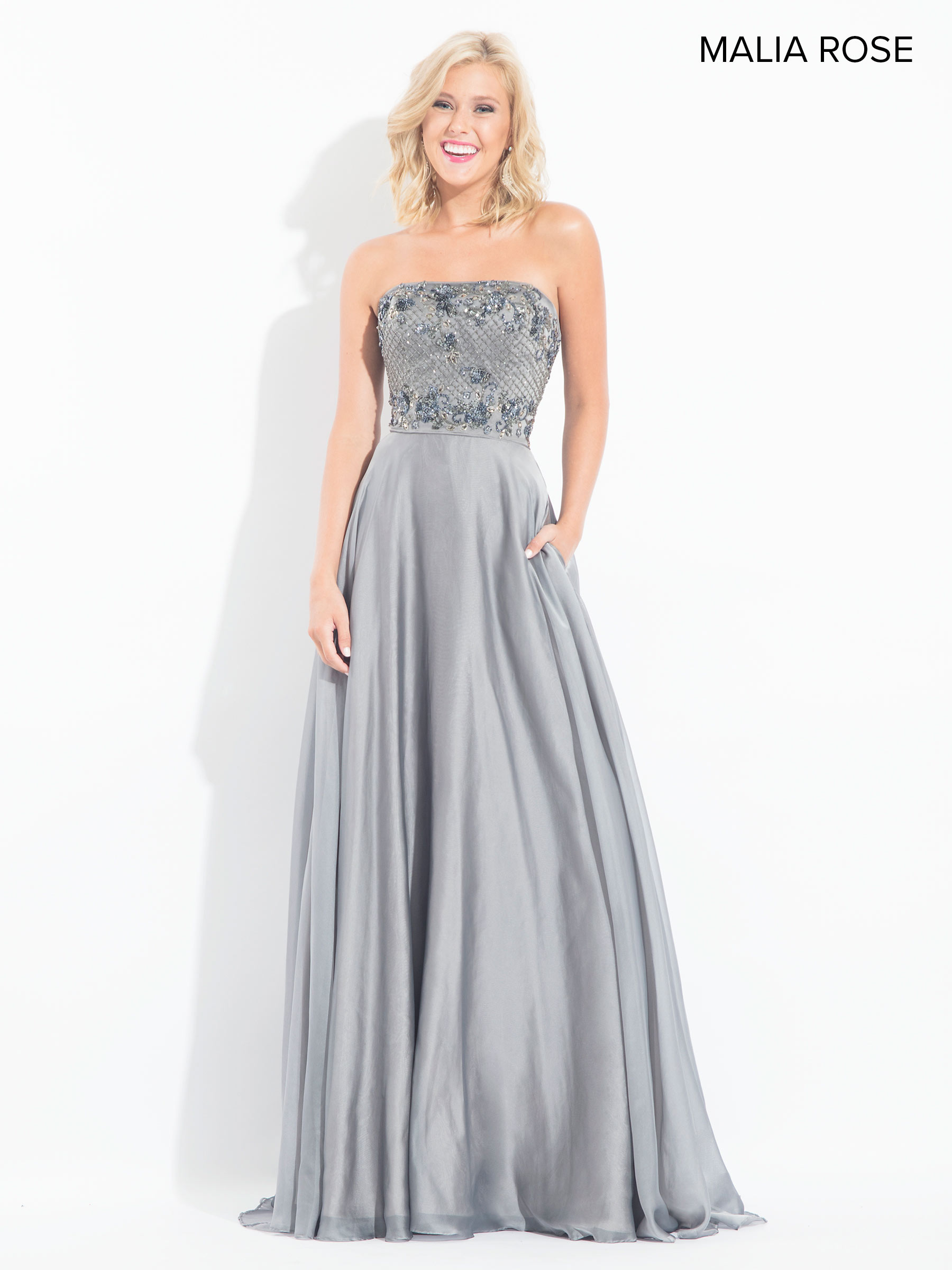 Malia Rose Prom Dresses | Style - MP1022 in Gunmetal, Marsala, or ...