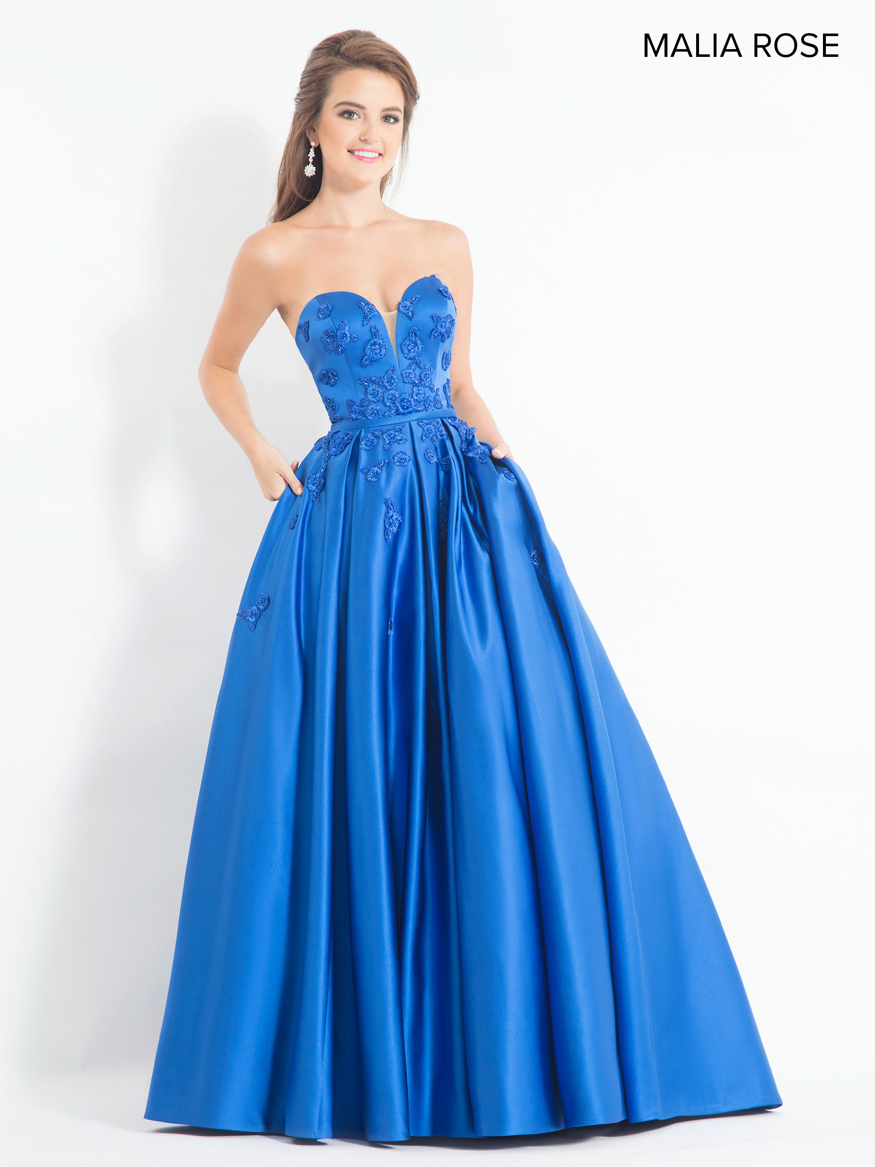 d120e9cad569 Malia Rose Prom Dresses | Style - MP1030 in Royal or Black Color