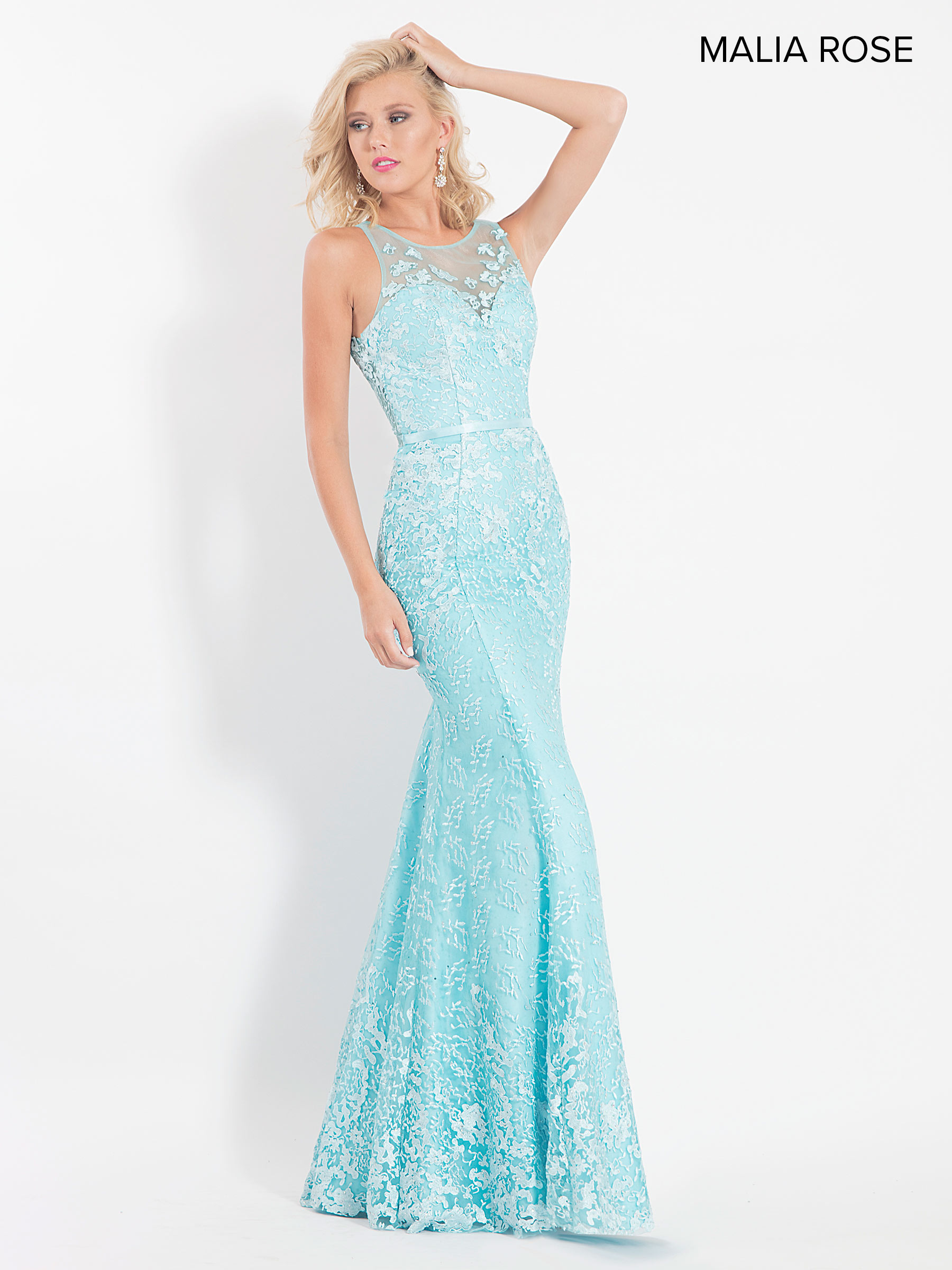 Malia Rose Prom Dresses | Style - MP1046 in Mint Color