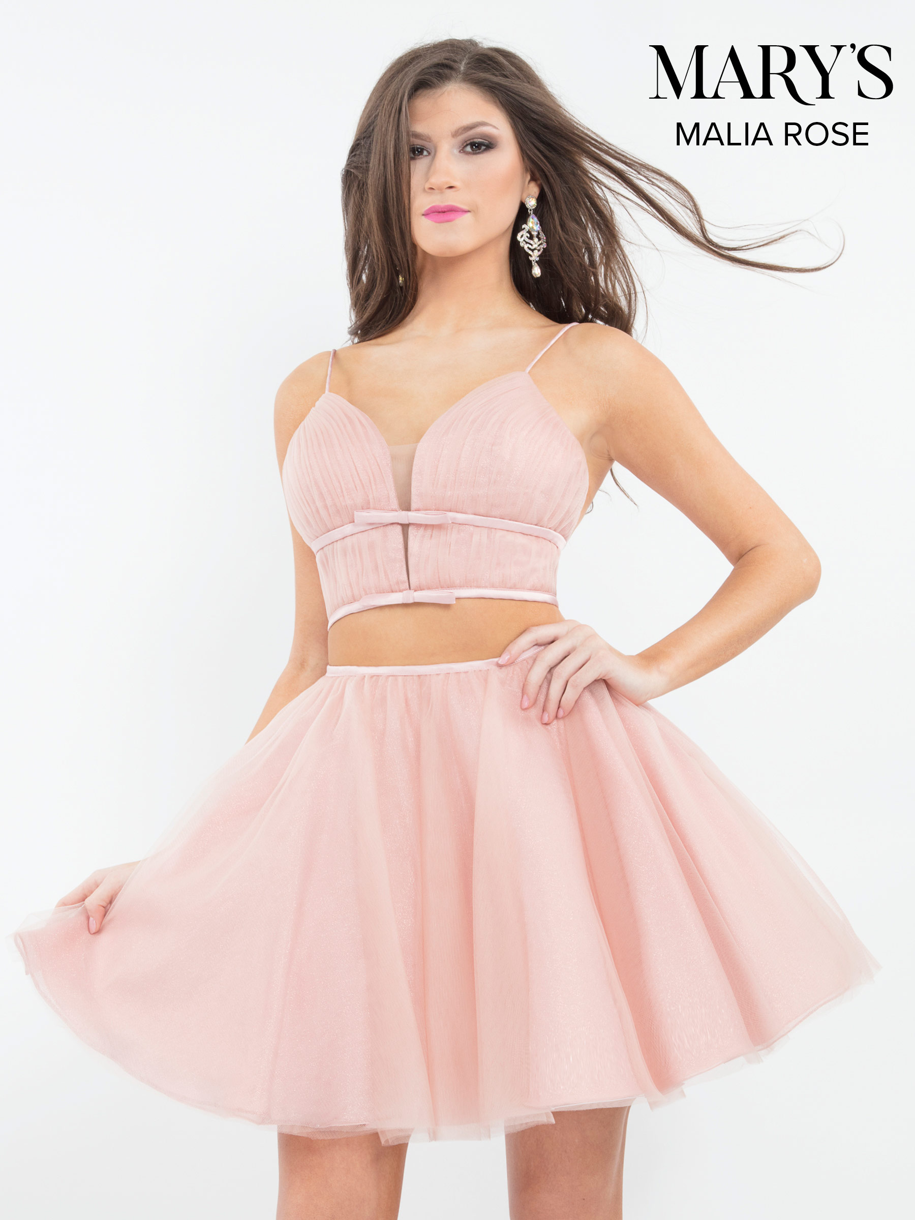 Malia Rose Prom Dresses | Style - MP1080 in Blush or Jade Color