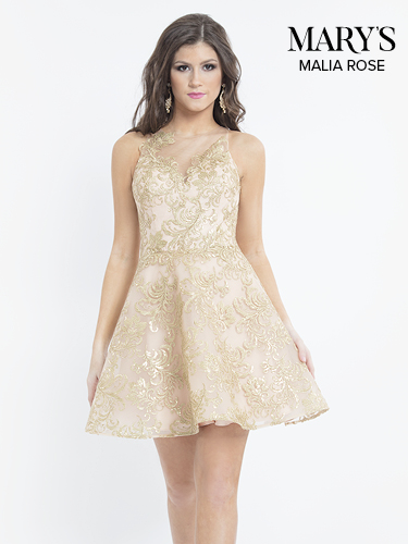Gold Color Quinceanera Short Dresses - Style - MP1094