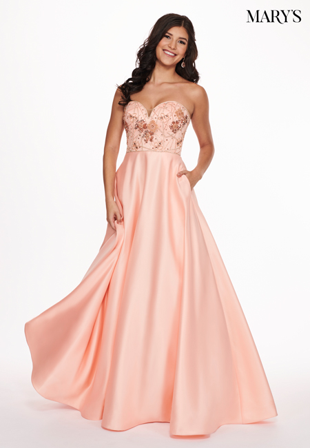 Peach Color Malia Rose Prom Dresses - Style - MP1123