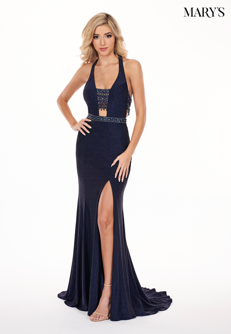 Navy Color Malia Rose Prom Dresses - Style - MP1158