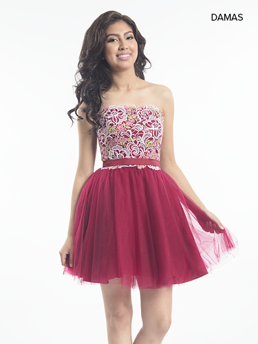 Wine Color Quinceanera Short Dresses - Style - MP2008