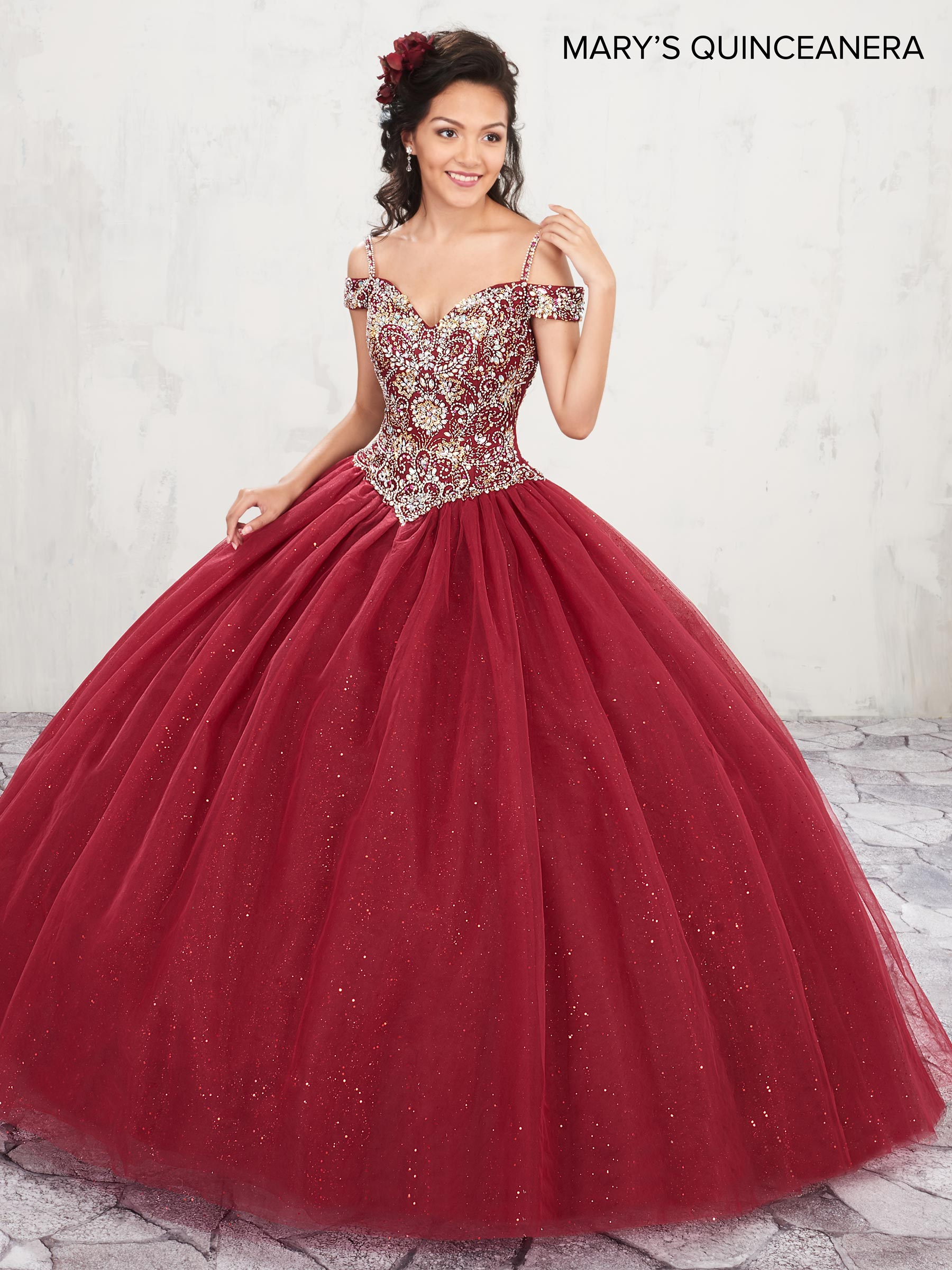 Marys Quinceanera Dresses | Style - MQ1001 in Wine, Lilac, White ...