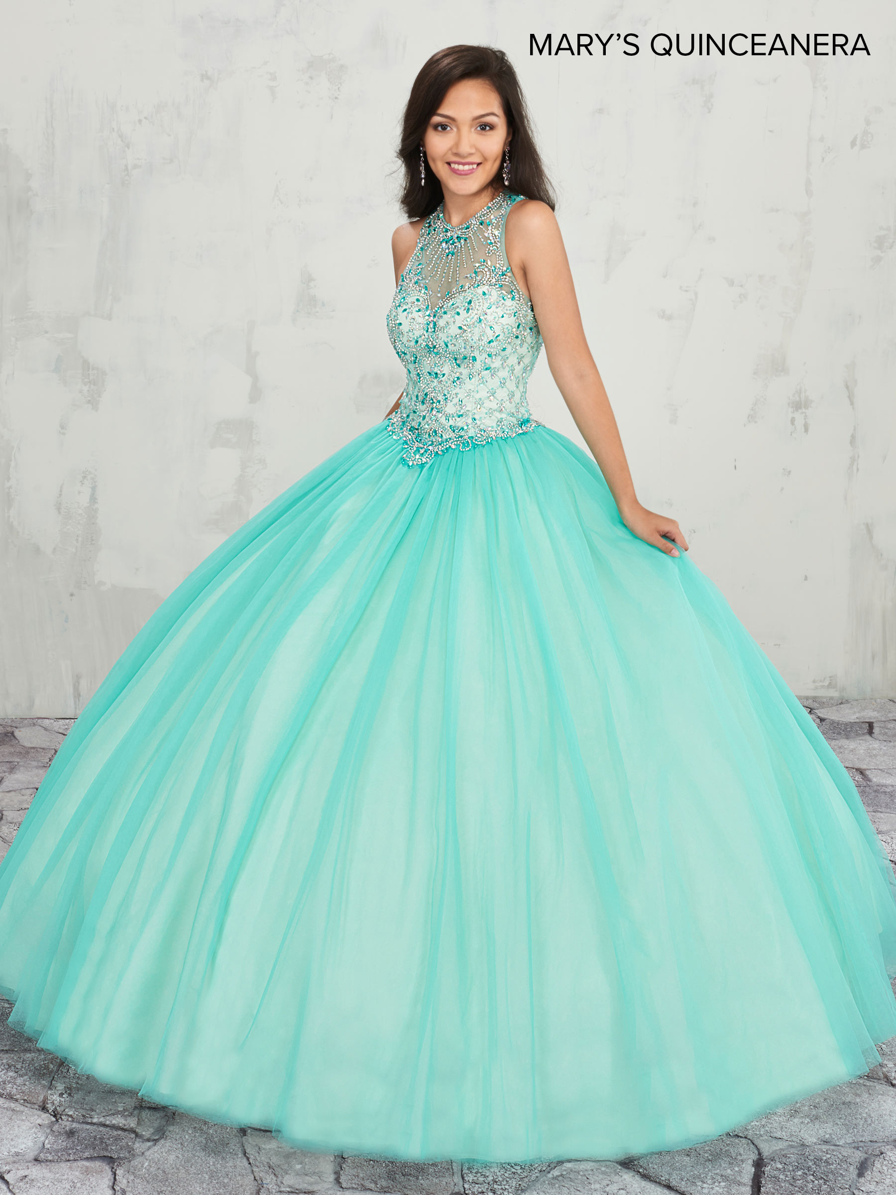 Marys Quinceanera Dresses | Style - MQ1007 in Bermuda/Champagne or ...