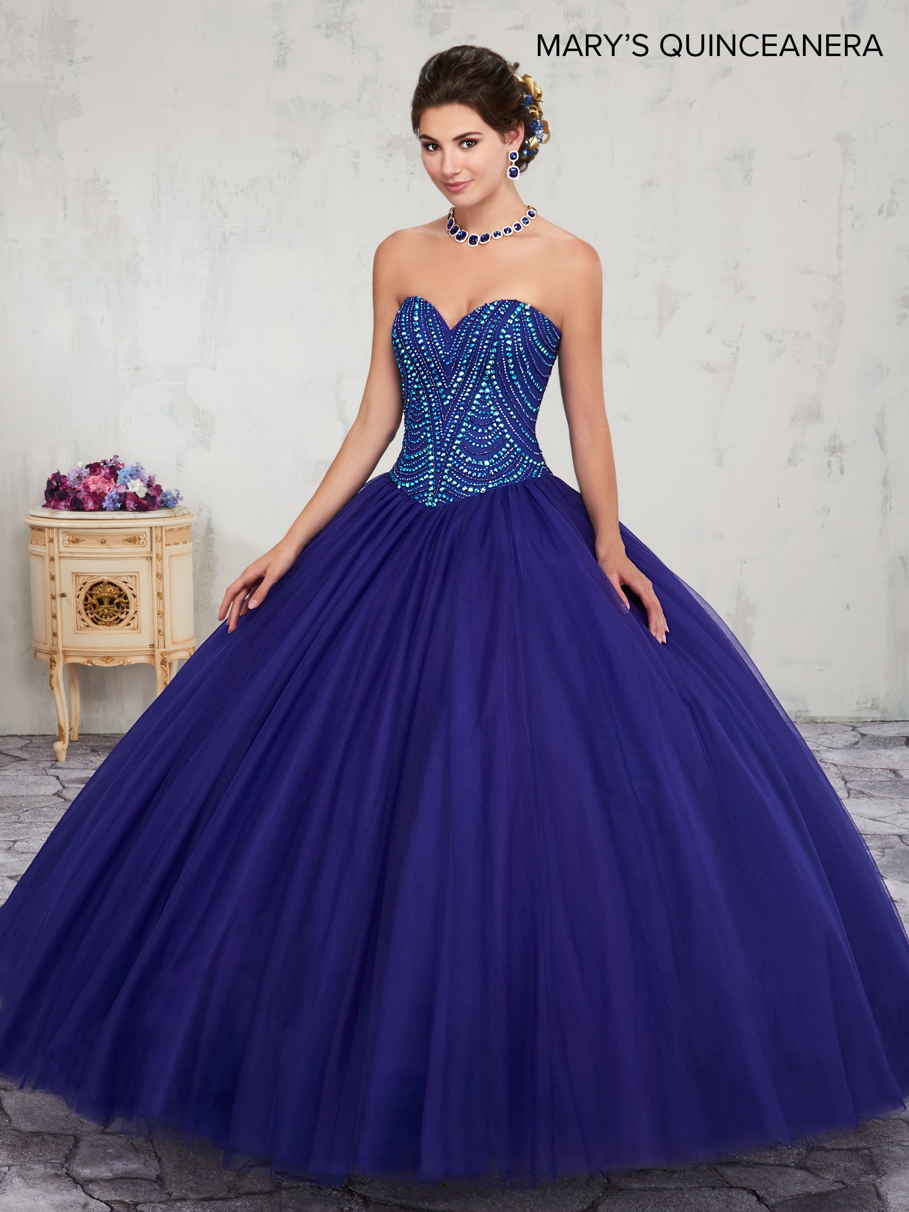 Marys Quinceanera Dresses Style Mq1010 In Cobalt Blue