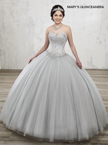 Aqua Color Marys Quinceanera Dresses - Style - MQ1013