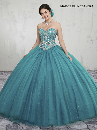 Bright Red Color Marys Quinceanera Dresses - Style - MQ1014