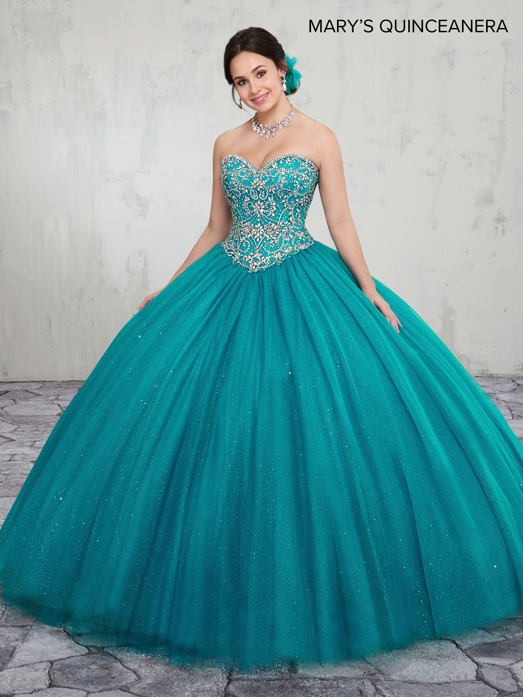 Marys Quinceanera Dresses | Style - MQ1014 in Bright Red, Mint, Teal ...