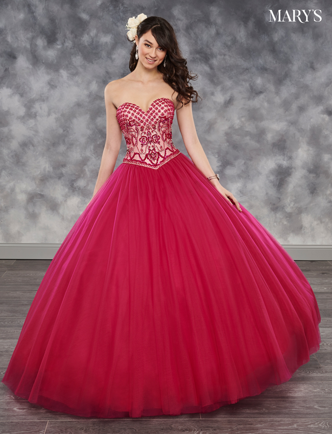 Fuchsia Color Marys Quinceanera Dresses - Style - MQ1015