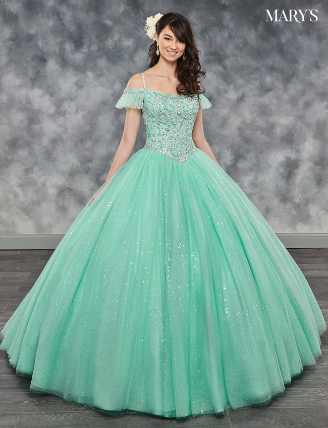 Burgundy Color Marys Quinceanera Dresses - Style - MQ1017