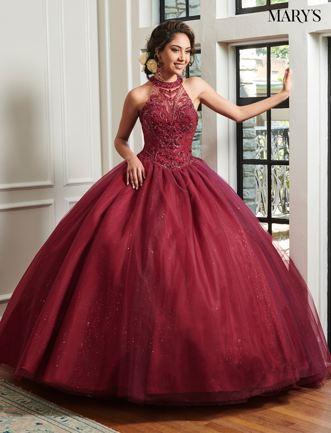 Navy Color Marys Quinceanera Dresses - Style - MQ1019