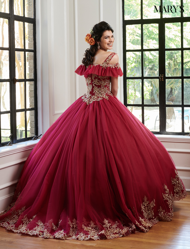 Champagne Color Marys Quinceanera Dresses - Style - MQ1026