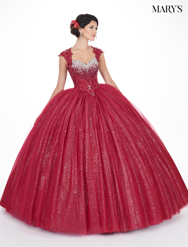 Marsala Color Marys Quinceanera Dresses - Style - MQ1031