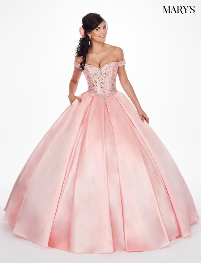 Blush Color Marys Quinceanera Dresses - Style - MQ1032