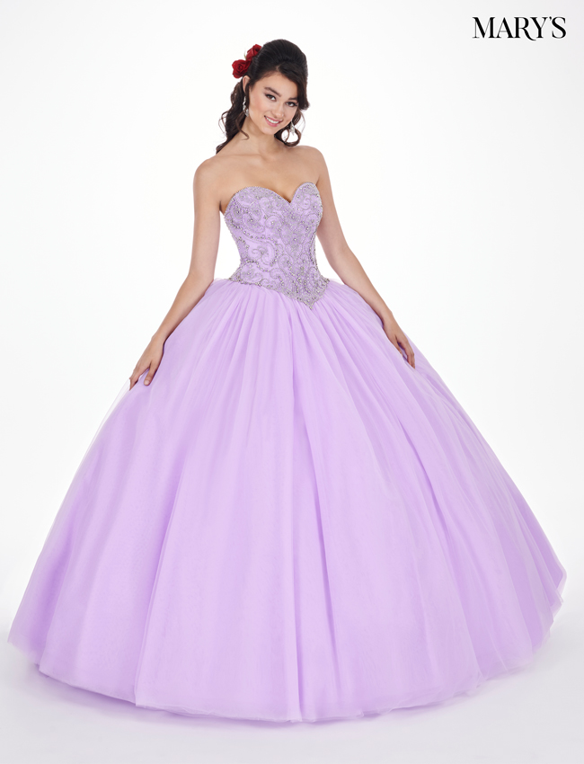 Lilac Color Marys Quinceanera Dresses - Style - MQ1033