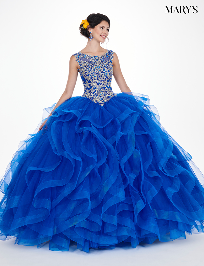 Royal Color Marys Quinceanera Dresses - Style - MQ1034