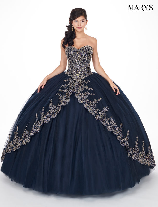 Burgundy Color Marys Quinceanera Dresses - Style - MQ1035