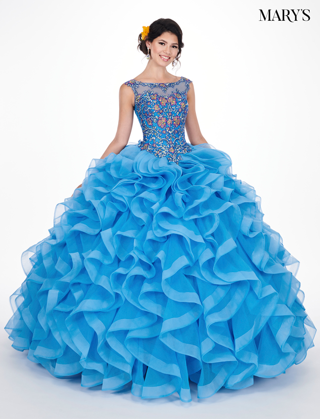 Periwinkle Color Marys Quinceanera Dresses - Style - MQ1037