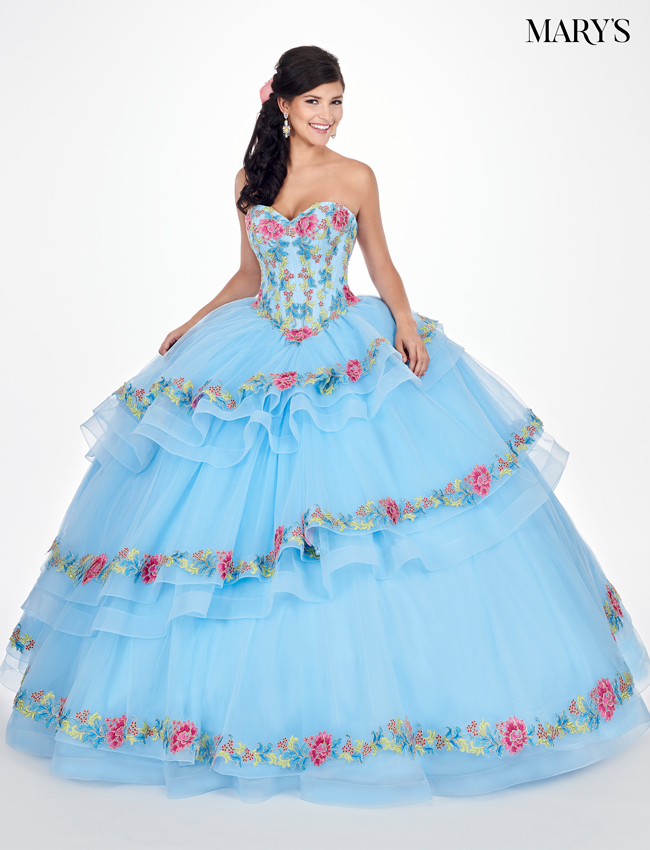 Sky Color Marys Quinceanera Dresses - Style - MQ1038