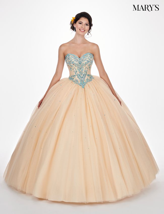 Dark Champagne Color Marys Quinceanera Dresses - Style - MQ1040