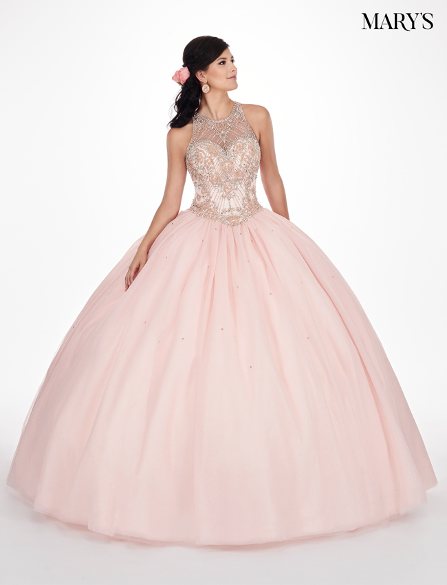 Blush Color Marys Quinceanera Dresses - Style - MQ1044