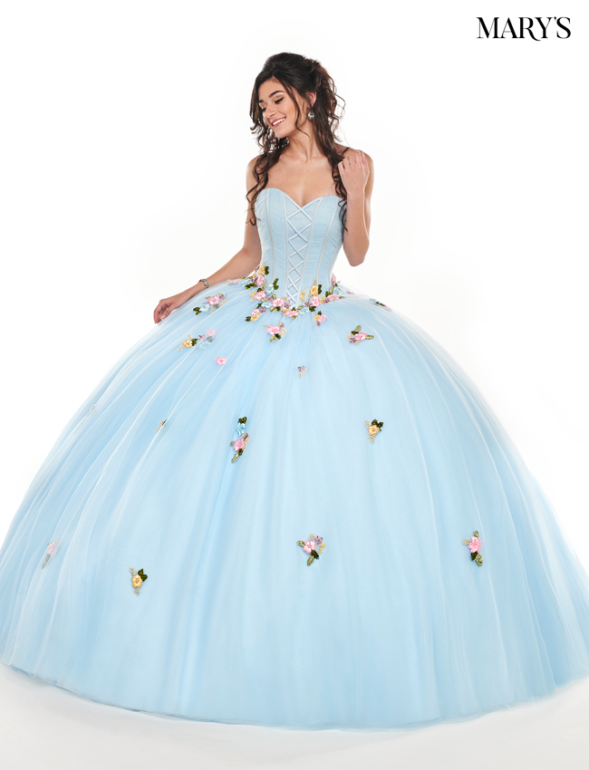 Light Blue Color Marys Quinceanera Dresses - Style - MQ1045