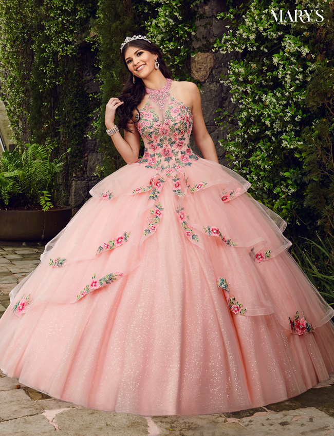 Baby Pink Color Marys Quinceanera Dresses - Style - MQ1046