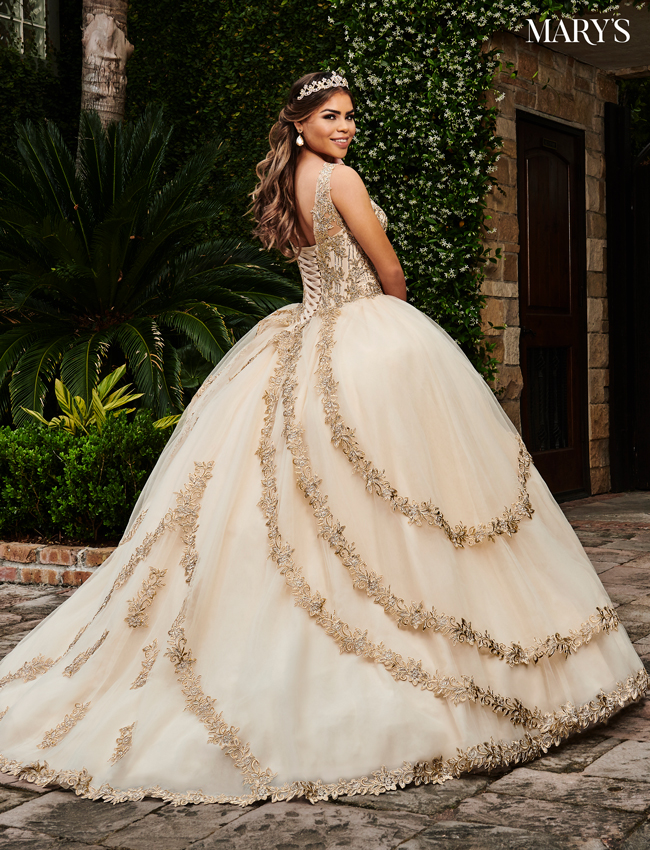 Champagne Color Marys Quinceanera Dresses - Style - MQ1047