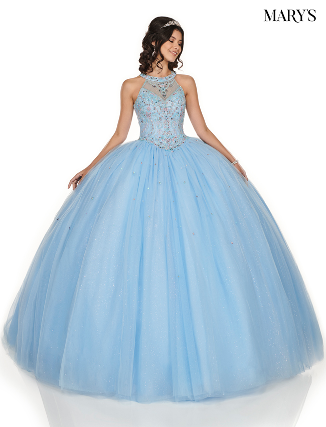 Light Blue Color Marys Quinceanera Dresses - Style - MQ1048