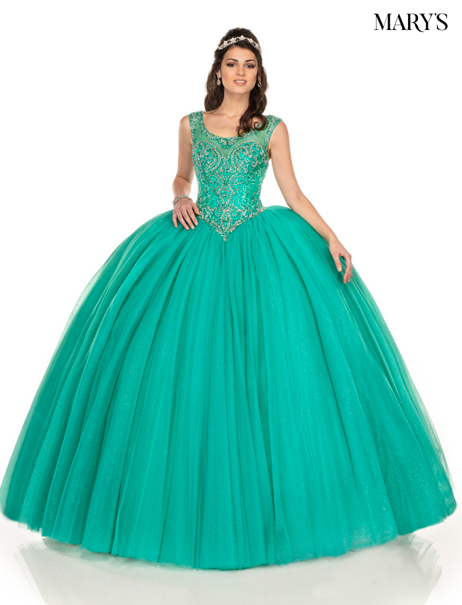 Aqua Color Carmina Quinceanera Dresses - Style - MQ1049
