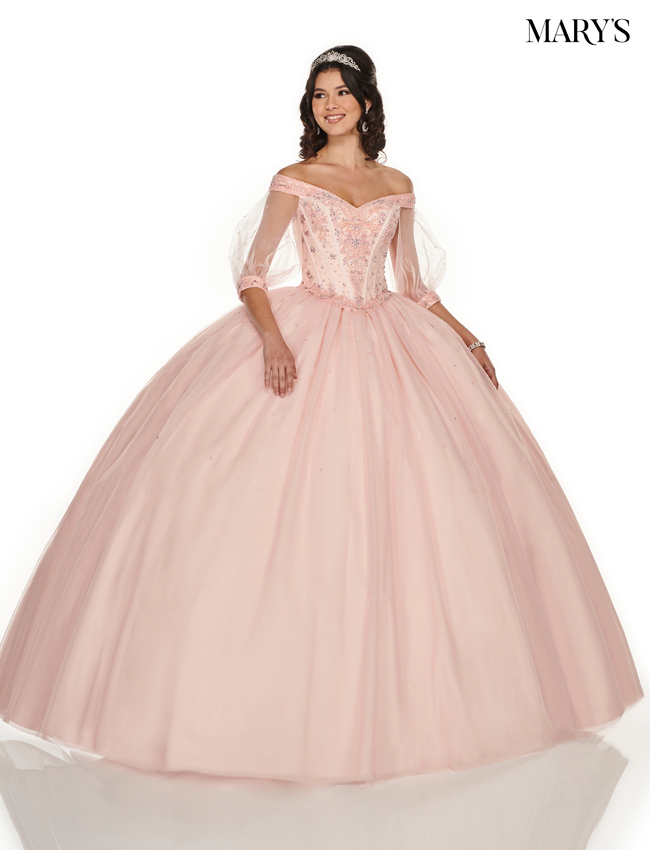 Navy Color Marys Quinceanera Dresses - Style - MQ1050