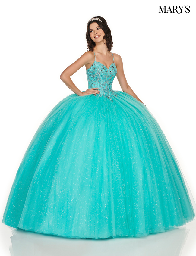 Light Jade Color Marys Quinceanera Dresses - Style - MQ1052